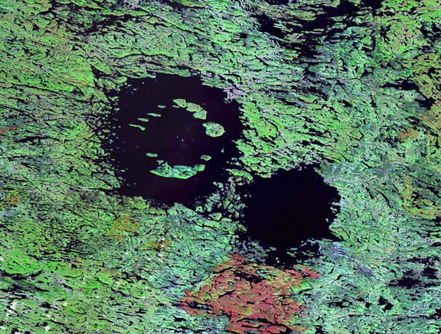 Clearwater Lakes Craters, Canada